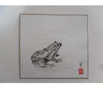 Grenouille 1 Shikishi 13x12 cm
