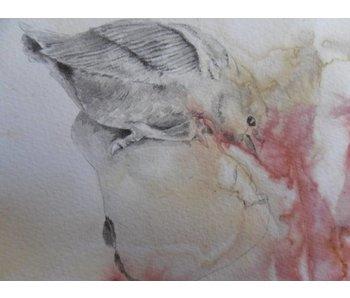 Vogelpeer 1 Shikishi 13x12 cm