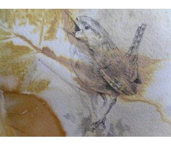 Pájaro 1 Shikishi 13x12 cm
