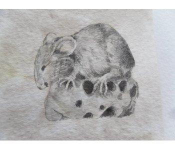Maus Käse 2 Tanzaku 36x6 cm