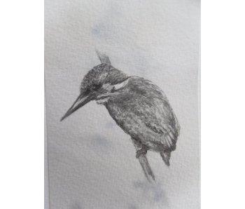Kingfisher 2 Tanzaku 36x6 cm