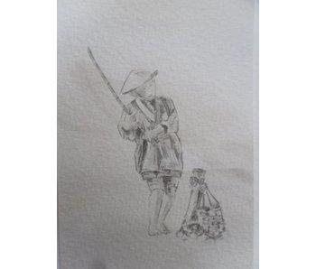 Fisherman 1 Tanzaku 36x6 cm
