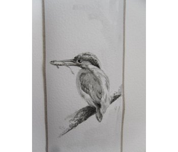 Eisvogel 5 Tanzaku 36x6 cm