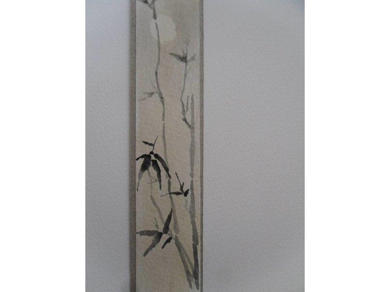 Bamboe maan Tanzaku 23,5x3 cm