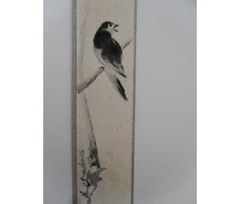 Bird 2 Tanzaku 23,5x3 cm