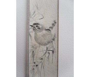 Vogel 3 Tanzaku 23,5x3 cm