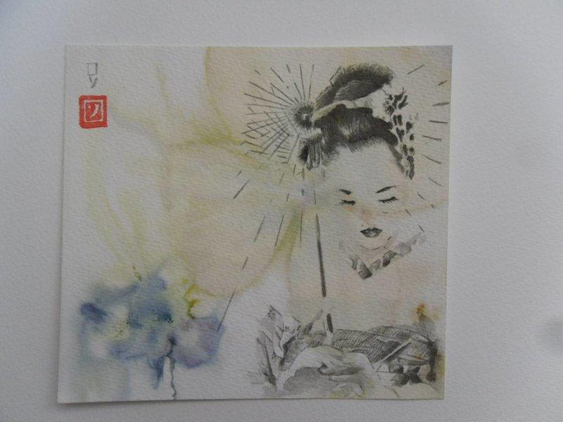Geisha 5 Shikishi 13x12 cm