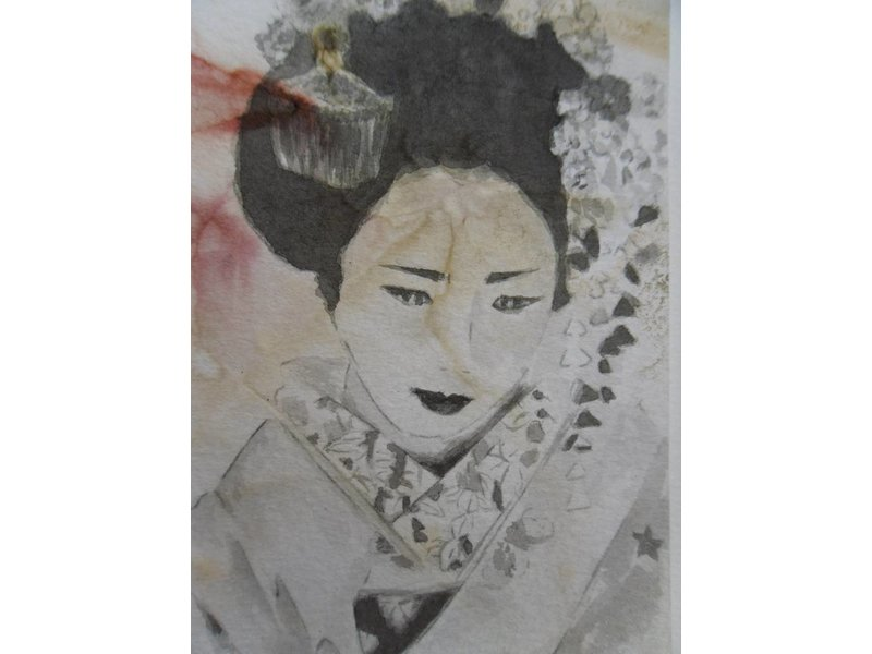 Geisha 7 Shikishi 13x12 cm