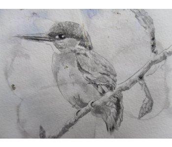 Kingfisher 6 Shikishi 13x12 cm - Copia