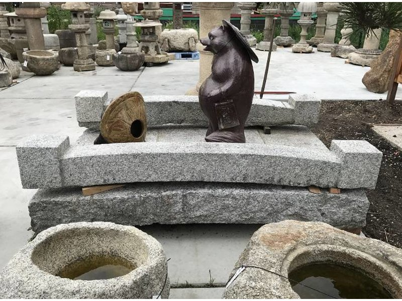 Antieke granieten Japanse brug