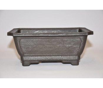 Kunststof rechthoekige pot 18cm