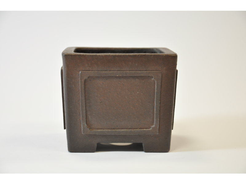 Yamaaki Tokoname - Quadratischer Topf - 93 x 93 x 77 mm