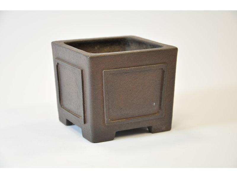 Yamaaki Tokoname - Square pot - 93 x 93 x 77 mm