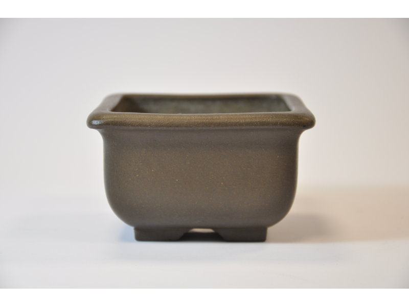 Yamaaki Tokoname - Quadratischer Topf - 102 x 103 x 61 mm