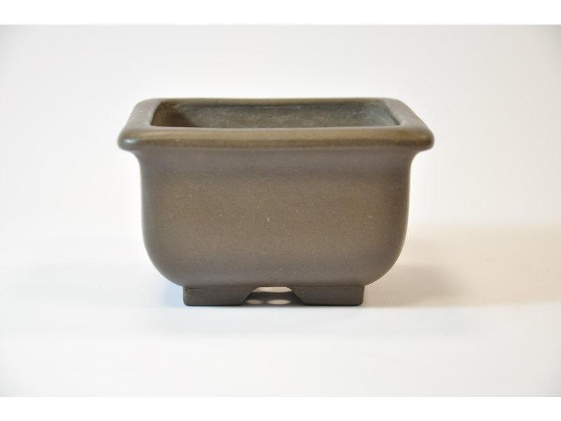 Yamaaki Tokoname - Vaso quadrato - 102 x 103 x 61 mm