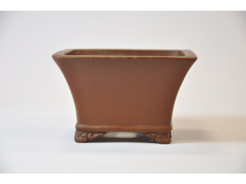 Vaso quadrato Shibakatsu non smaltato 97 x 97 x 55 mm