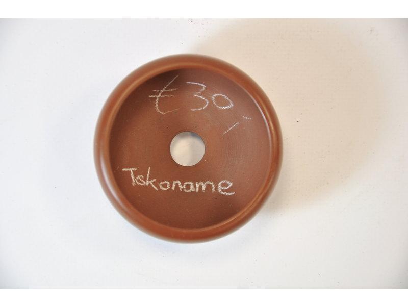 Tokoname - handmade - round pot - 70 mm