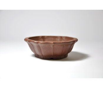 Hexagonal unglazed Shibakatsu pot - 90 mm