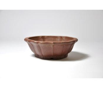 Zeshoekige ongeglazuurde Shibakatsu-pot - 90 mm