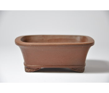 Rectangular unglazed Shibakatsu pot - 103 mm