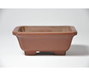 Rectangular unglazed Shibakatsu pot - 86 mm