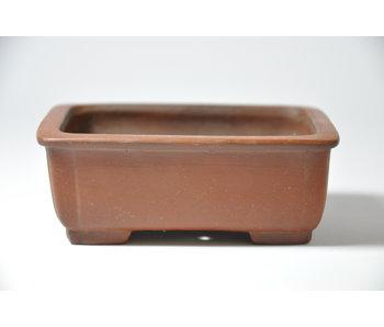 Rectangular unglazed Shibakatsu pot - 98 mm