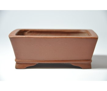Rectangular unglazed Shibakatsu pot - 102 mm