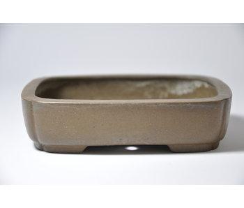 Rechthoekige ongeglazuurde Shibakatsu-pot - 127 mm