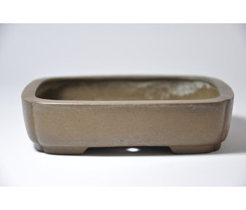 Rectangular unglazed Shibakatsu pot - 127 mm
