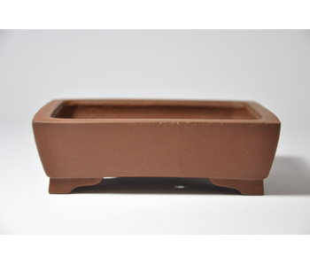 Rectangular unglazed Shibakatsu pot - 125 mm