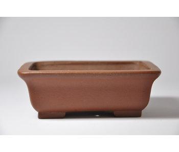 Rechthoekige ongeglazuurde Shibakatsu-pot - 125 mm