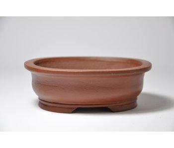 Ovale ongeglazuurde Shibakatsu-pot - 125 mm
