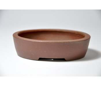 Oval unglazed Shibakatsu pot - 96 mm