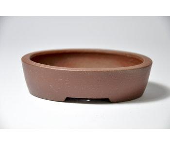 Ovale ongeglazuurde Shibakatsu-pot - 96 mm