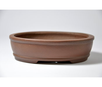 Oval unglazed Shibakatsu pot - 127 mm