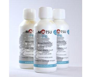 MATSU PK meststof | 3 x 250 ml - voor het verdikken van stam en takken