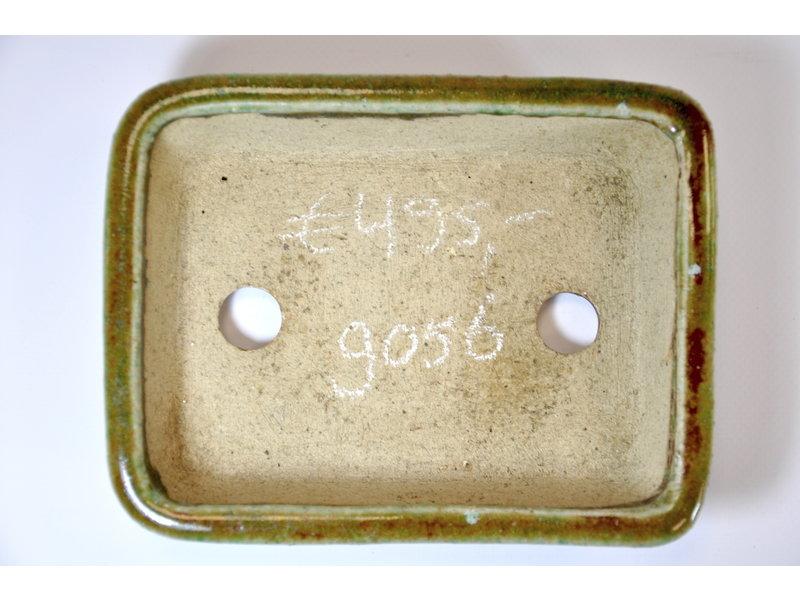 Rechteckiger grün glasierter Koto Chukan Topf - 171 x 32 x 32 mm