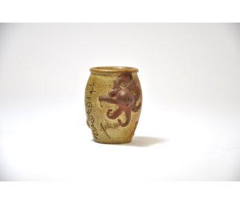 Round handpainted  pot - 35 mm