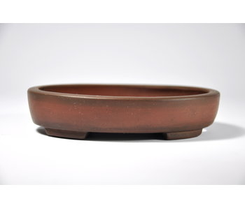 Oval unglazed  pot - 125 mm