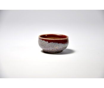 Round red and blue Isho pot - 36 mm