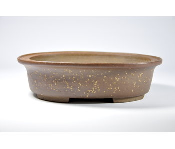 Oval unglazed kousen pot - 188 mm