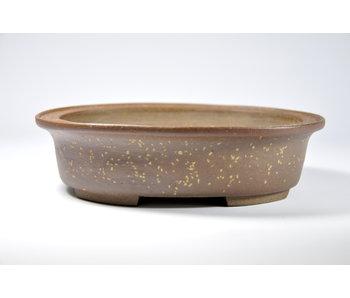 Ovale ongeglazuurde Kosen pot - 188 mm