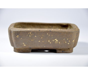 Rectangular unglazed Kosen pot - 112 mm