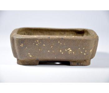 Rectangular unglazed kousen pot - 112 mm