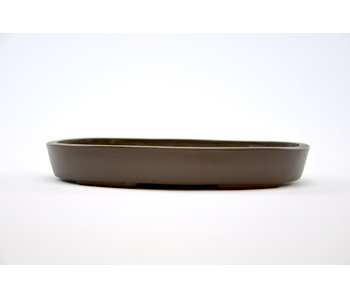 Oval unglazed Yamaaki pot - 181 mm