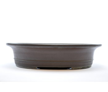 Oval unglazed Yamaaki pot - 519 mm