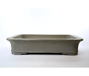 Rectangular unglazed Keizan pot - 555 mm