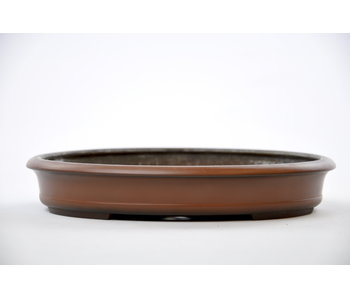 Oval unglazed Hokido pot - 217 mm
