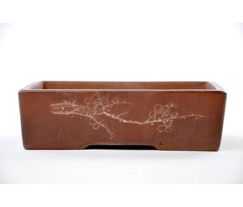 Maceta Bonsai rectangular sin esmaltar - 165 mm