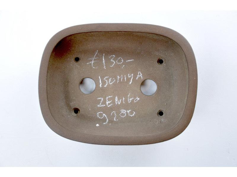 Rectangular unglazed Zenigo pot - 190 x 148 x 58 mm